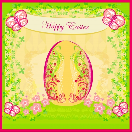 Easter Egg On floral Background Stock Vector - 16351853