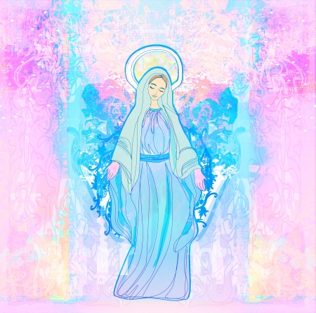 virgin mary:  Blessed Virgin Mary  Stock Photo