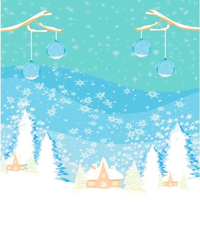 winter landscape.  Stock Vector - 16449453