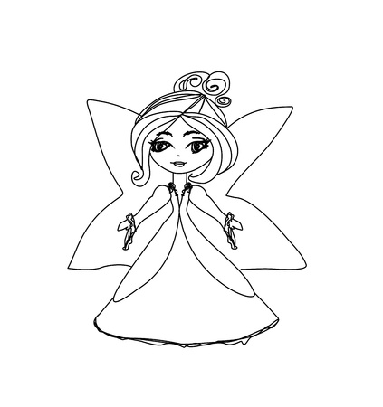 beautiful little fairy Vector
