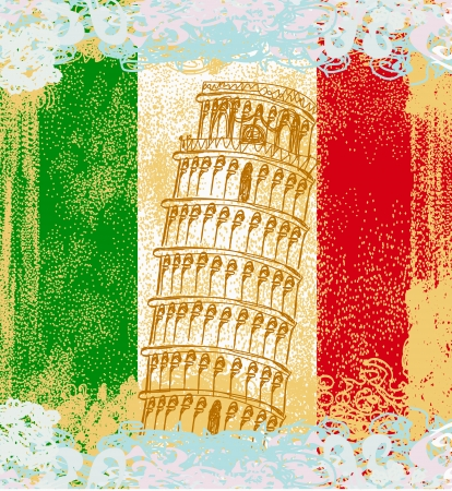 writable: pisa tower grunge background