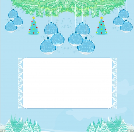 Christmas Framework style card Stock Vector - 16479513