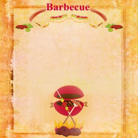 bbq background:  Barbecue Party Invitation  Stock Photo