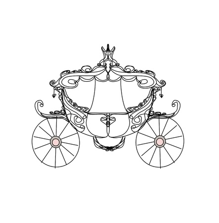 chariot: vintage carriage - doodle icon