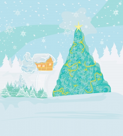 winter landscape - vector Stock Vector - 16554472