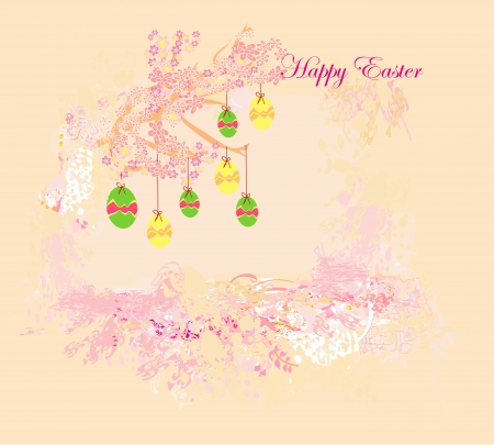 Easter Egg On floral Background Stock Vector - 16569866