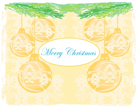 Christmas Framework style card  Stock Vector - 16601103