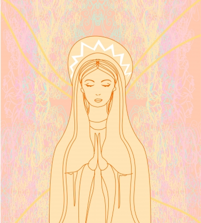 madonna:  Blessed Virgin Mary  Illustration