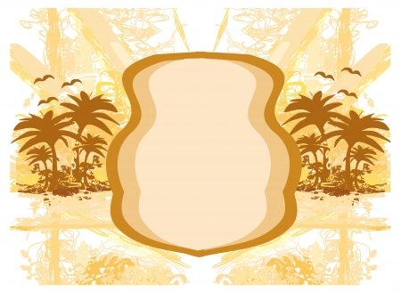 summer background with palm trees Stock Vector - 16601109