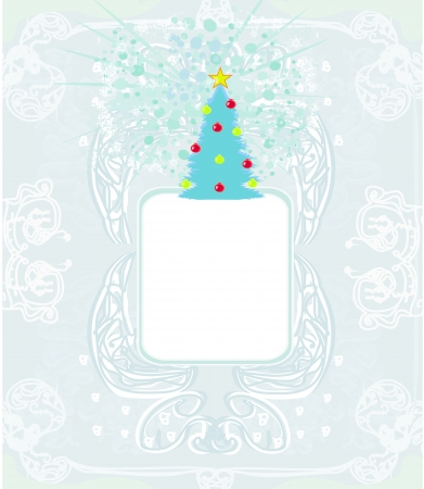 Abstract christmas tree card  Stock Vector - 16614757