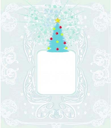 Abstract christmas tree card Stock Vector - 16614757