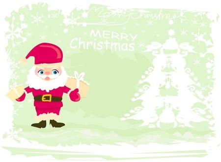 Happy New year card with Santa Stock Vector - 16674291