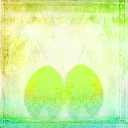 Easter Egg On floral Background Stock Photo - 16719240