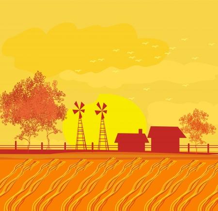 Eco farming - landscapes Stock Vector - 16757261