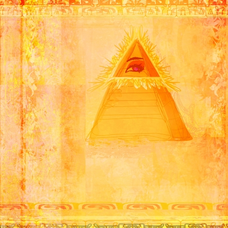 Ancient Pyramid Eye Design  photo