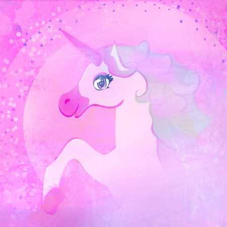 Illustration of beautiful pink Unicorn   illustration