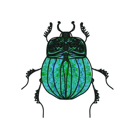 scarabeo: Vector Scarab Beetle