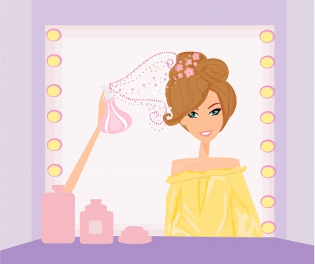 Vector illustration of the beautiful woman in hairdressing salon  Stock Vector - 16812942