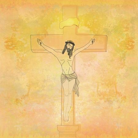 sinner:  jesus christ in the cross - vintage paper