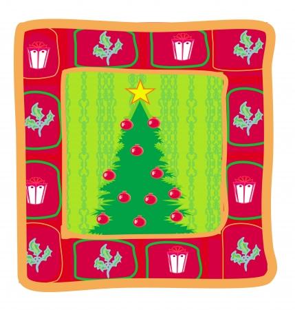 funny christmas tree card Stock Vector - 16812975