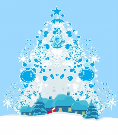 Illustration of funny santa claus  Stock Vector - 16871967