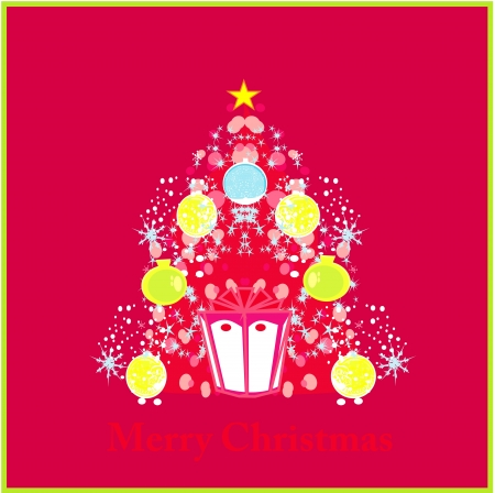 Stylized christmas tree card  Vector