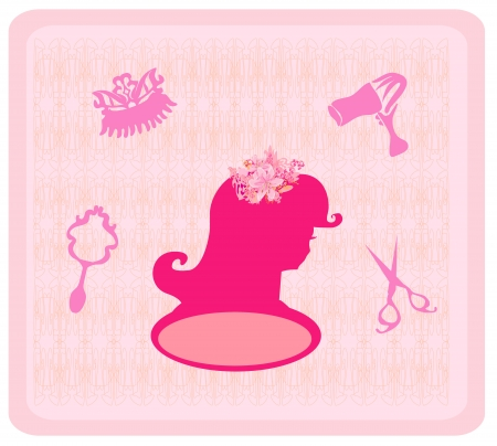 hairdressing salon:  hairdressing salon icons Illustration
