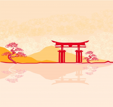 Miyajima gate at Hiroshima Stock Vector - 16913370