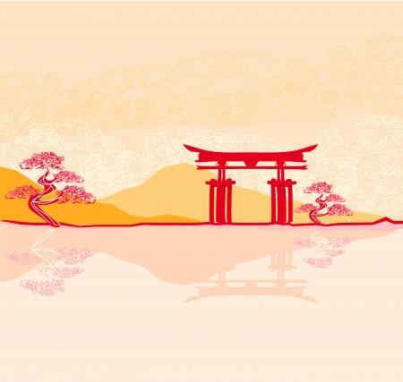 itsukushima:  Miyajima gate at Hiroshima