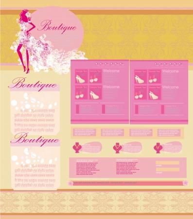 Fashion shopping Website template Stock Vector - 16913388