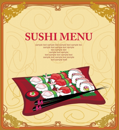 template of traditional Japanese food menu Stock Vector - 16939427
