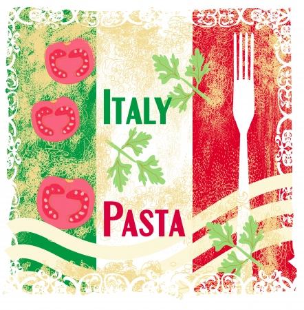 pasta pattern - Vintage style  Stock Vector - 16956708