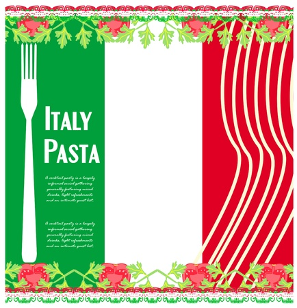 pasta pattern  Vector