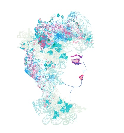 Creative fashion portrait  Stock Vector - 16956713