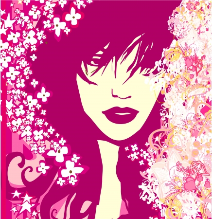 Abstract Beautiful Woman poster  Stock Vector - 16956707