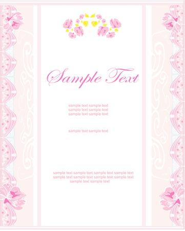 romantic flower invitation card  Stock Vector - 16956703