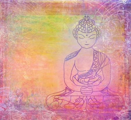 Chinese Traditional Artistic Buddhism Pattern Stock Photo - 16976996