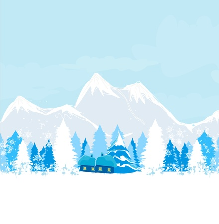 winter landscape - vector  Stock Vector - 16976998