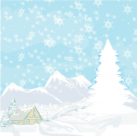 winter landscape  Stock Vector - 17030631