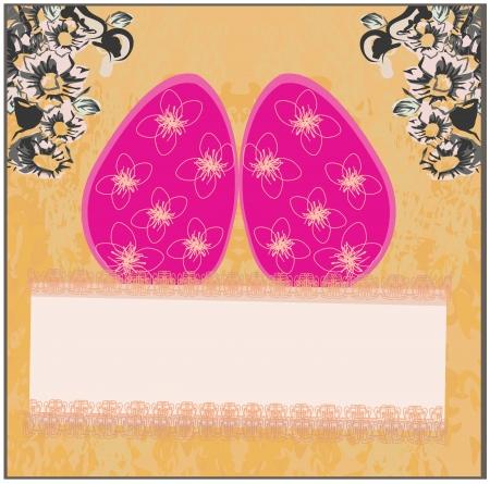 Easter Egg On Grunge Background Stock Vector - 17040757