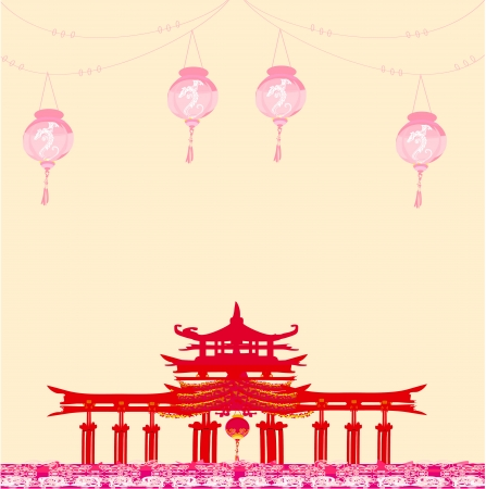Decorative Chinese Background  Vector