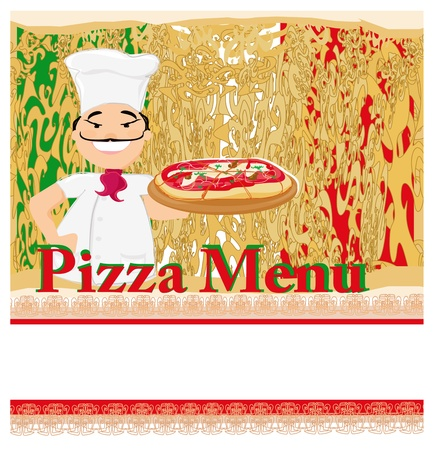 Pizza grunge poster Stock Vector - 17040755