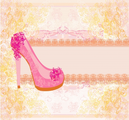 floral shoes poster Stock Vector - 17058664