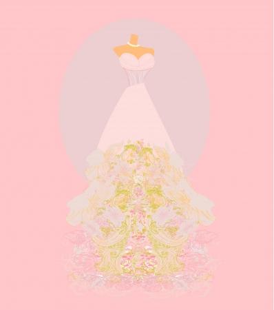 transparent dress: Wedding dress  for Wedding invitations