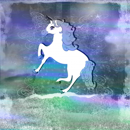 Illustration of beautiful Unicorn.  illustration