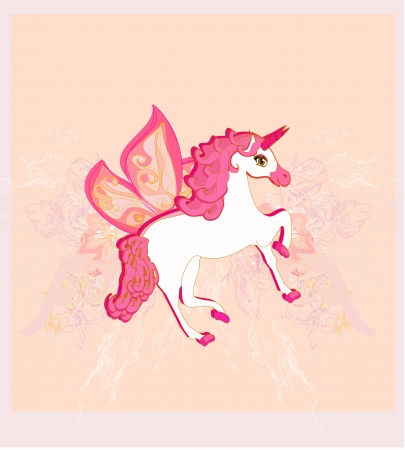Vector Illustration of beautiful  Unicorn.  Vector