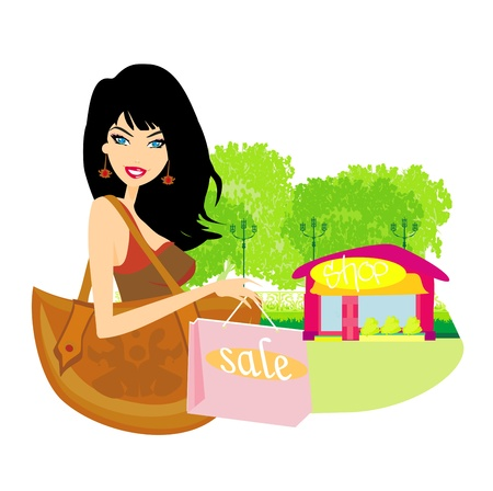 shoptalk: fashion shopping girl with shopping bags