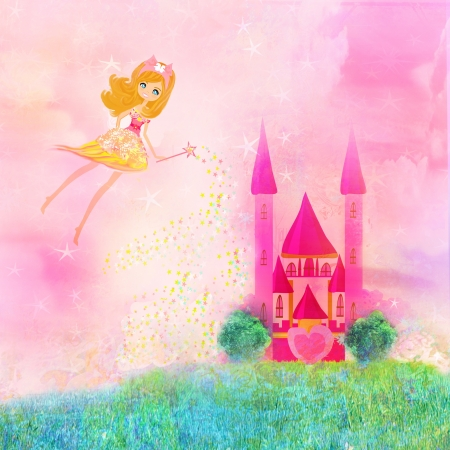 Magic Fairy Tale Princess Castle  Stock Photo - 17192534