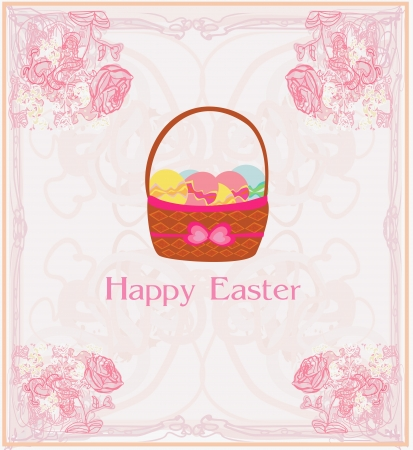happy easter border.  Stock Vector - 17192532