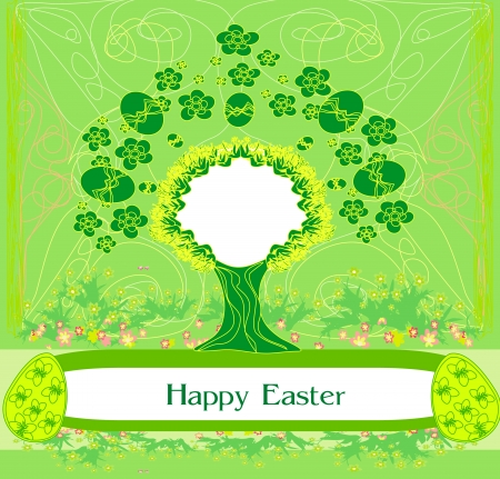 Easter tree frame Stock Vector - 17192536